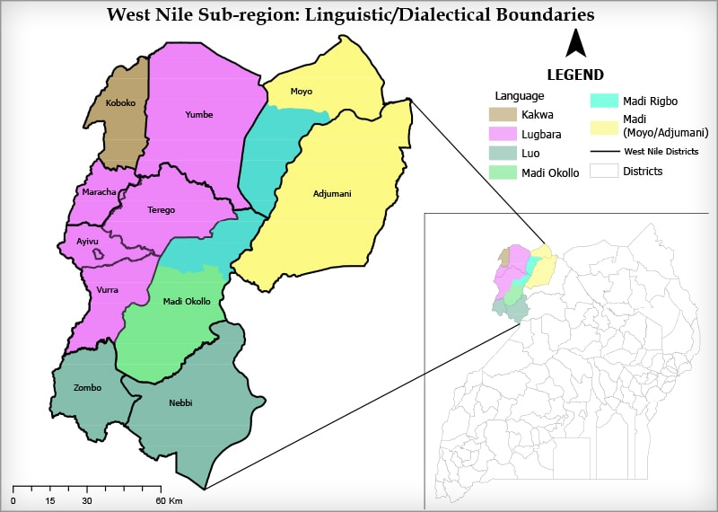 West Nile Region – Linguistic dialects