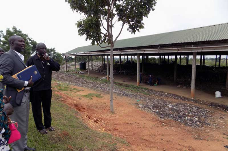 The Arua compost recycling plant