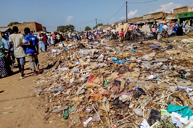 accumulated garbage in Yumbe