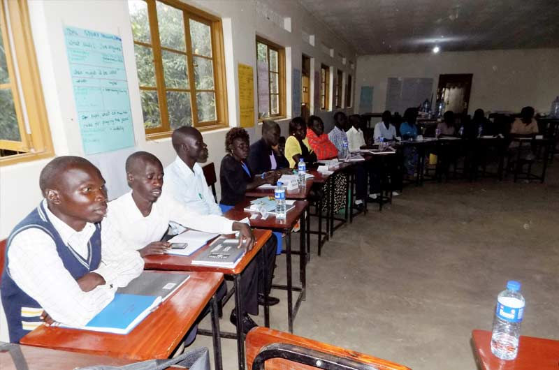 The participants during the first day of the training